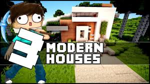 minecraft 3 small modern houses w emosnail youtube