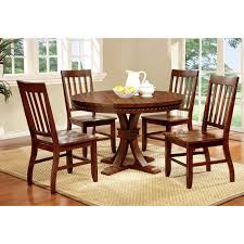 5 piece dining room sets furniture of america fort wooden 5 piece counter height round