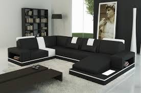 canapé angle noir canapé d angle en cuir italien 6 7 places sublimo noir et blanc
