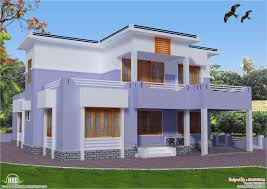 feet flat roof house design kerala home floor plans architecture