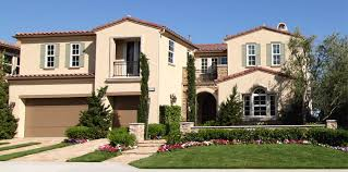 spanish style exterior paint of modern day hacienda meets