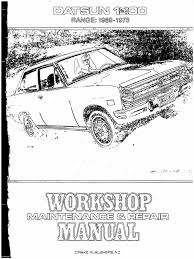 workshop manual datsun 1200 1969 73 piston distributor