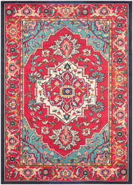 safavieh monaco mnc207c red and turquoise area rug free shipping