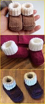 Newborn Pattern Video | baby knitting patterns knit newborn booties free pattern video