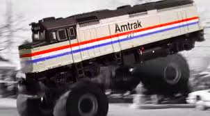 real monster truck videos introducing amtraks amazing monster truck train fanatics