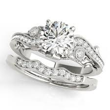 vintage love rings images Vintage style diamond setting moissanite center engagement ring jpg