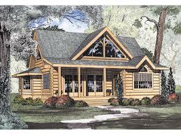 Cool Log Homes Logan Creek Log Cabin Home Plan 073d 0005 House Plans And More
