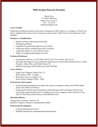 Business Analyst Profile Resume Sample Resume Pmo Analyst Example Of Business Analyst Resume