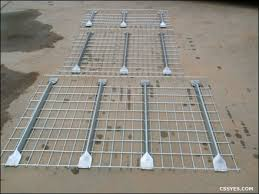 used wiremesh decks pallet rack industrial shelving open grids