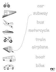 worksheets english transportation