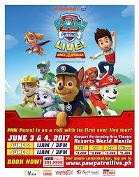 paw patrol live race rescue philippine concerts