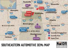 Muscle Shoals Alabama Map Automotive North Alabama Industrial Development Association