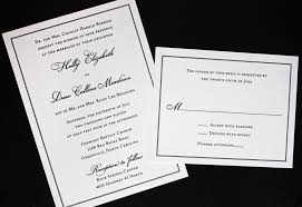 thermography wedding invitations classic black border on linen wedding invitations emdotzee