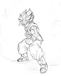 son goku super saiyan god super saiyan sketch by bl sama on deviantart