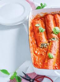 cuisine italienne cannelloni cannellonis ricotta épinards sauce rosée ricardo