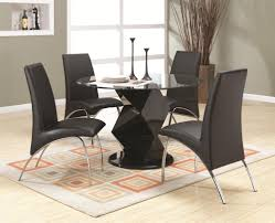 coaster ophelia contemporary five piece dining set with round
