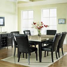buy monarch marble top dining room set by steve silver from www