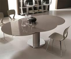 table de cuisine ronde en verre pied central table ronde verre laqué gris design bontempi casa sur cdc design
