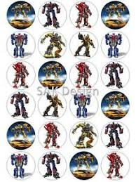 24 x transformers rice paper birthday cake toppers 24 x transformer cup cake toppers on edible wafer rice paper or