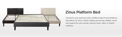 amazon com zinus essential upholstered platform bed frame