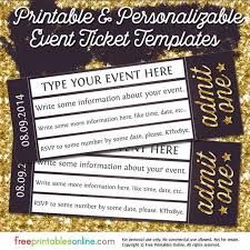 ticket maker free online event ticket templates make your own