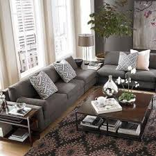 Living Room Ideas With Gray Sofa Charcoal Gray Sectional Sofa Foter