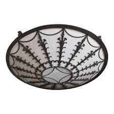 Glass Ceiling Light Fixtures Vintage U0026 Used Flush Mounts Chairish