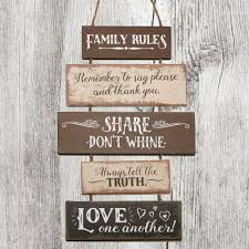 family wall hanging sign reversible