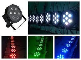 american dj led lights 20pcs lot adj flat led par 7x12w rgbw rgba slim par38 can light