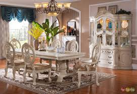 white formal dining room sets