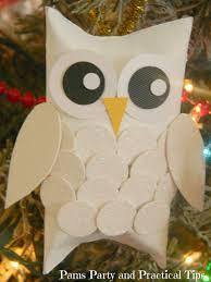 diy snow owl ornaments all created