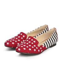 American Flag Shoes Shoes Misbehave Di60 Women American Flag Round Toe Star Studded