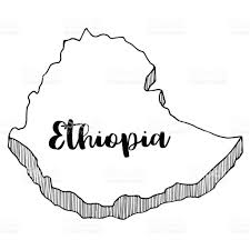 Ethiopia World Map by Hand Drawn Of Ethiopia Map Vector Illustration Stock Vector Art