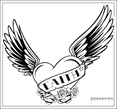 Hearts With Wings - coloring pages of hearts with wings many cliparts