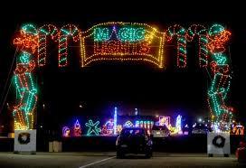 American Flag Christmas Lights Strong Winds Shut Down Christmas Lights Display At Auto Club