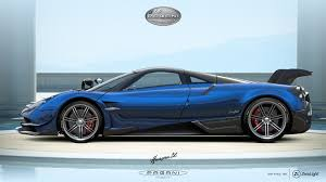blue pagani the pagani huayra bc captured using zerolight u0027s advanced