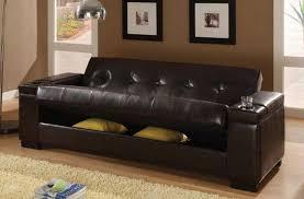Leather Futon Sofa Impressive Leather Futon Sofa Matrix Pillowtop Leather Fabric Sofa