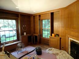 Painting Wood Floors Ideas Decoration Interesting Paint Wood Paneling With Window Treatment