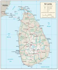 Blank Physical Map Of Europe by Sri Lanka Map Blank Political Sri Lanka Map With Cities