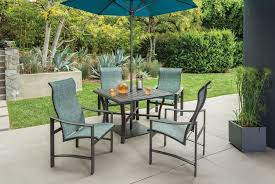 High Back Sling Patio Chairs by Tropitone Kenzo Sling High Back Dining Chair Leisure Living