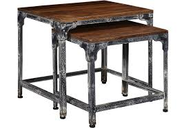 Nesting Desk Fleet Brown Nesting Tables Accent Tables Dark Wood