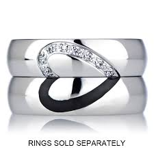 wedding rings for couples heart wedding ring band cubic zirconia