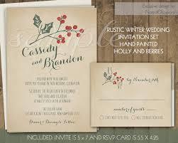 Christmas Wedding Invitations Winter Wedding Invitation Set Printable Invitation 5x7