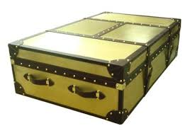brass trunk coffee table trunks trunks brown hairy leather trunk manufacturer from jaipur