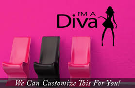 i m a diva with chic silhouette a wall vinyl decal quote sticker quick view