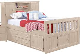 Bookcase Bed Frame Creekside Stone Wash 3 Pc Full Captain U0027s Bookcase Bed Full Beds