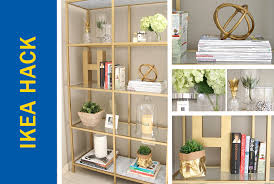 ikea hack of the week a fabulous space saving gold bookshelf