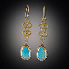 filigree earrings gold filigree earrings with turquoise