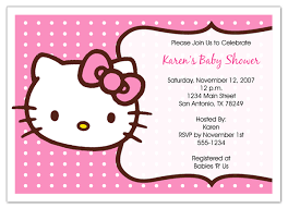 hello kitty baby shower invitations someday pinterest