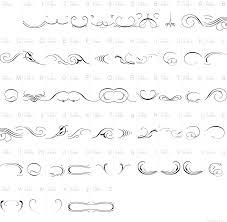 ornament scrollsandflorishes font